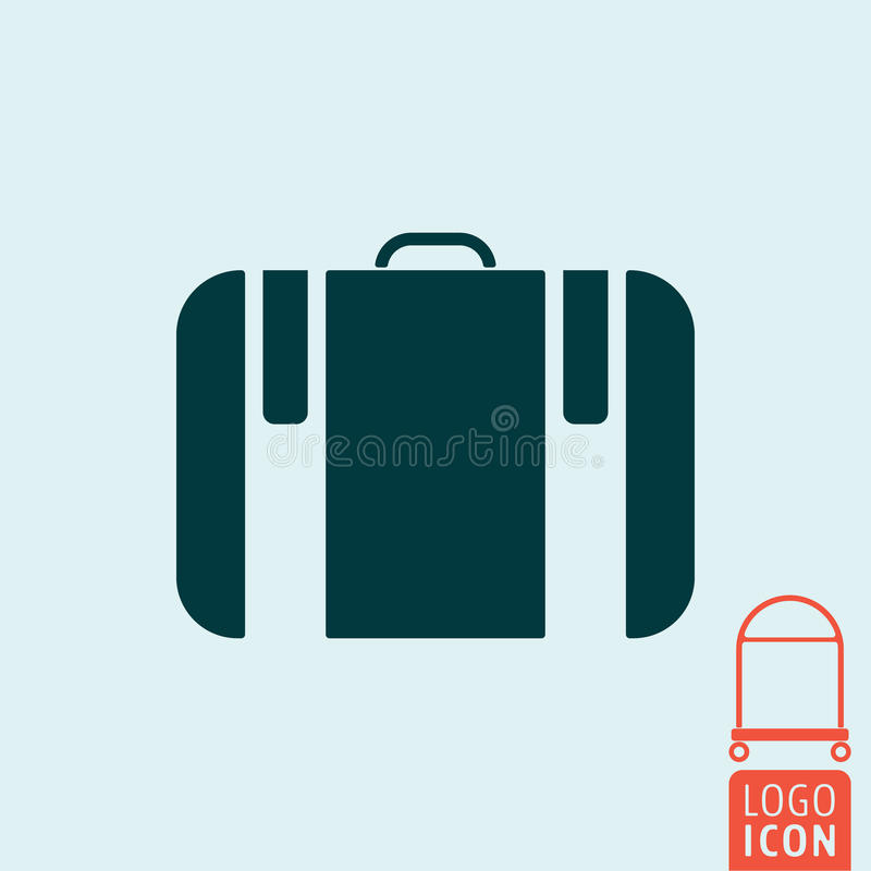 Icône de valise d'isolement illustration stock