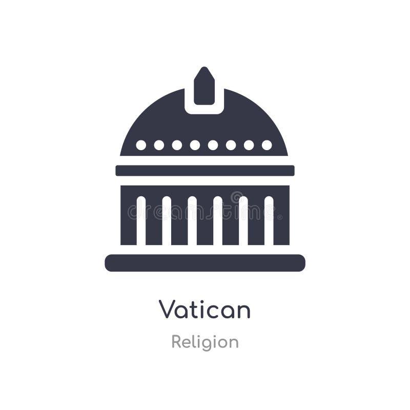 ic?ne de vatican illustration d'isolement de vecteur d'icône de vatican de collection de religion editable chantez le symbole peu illustration de vecteur