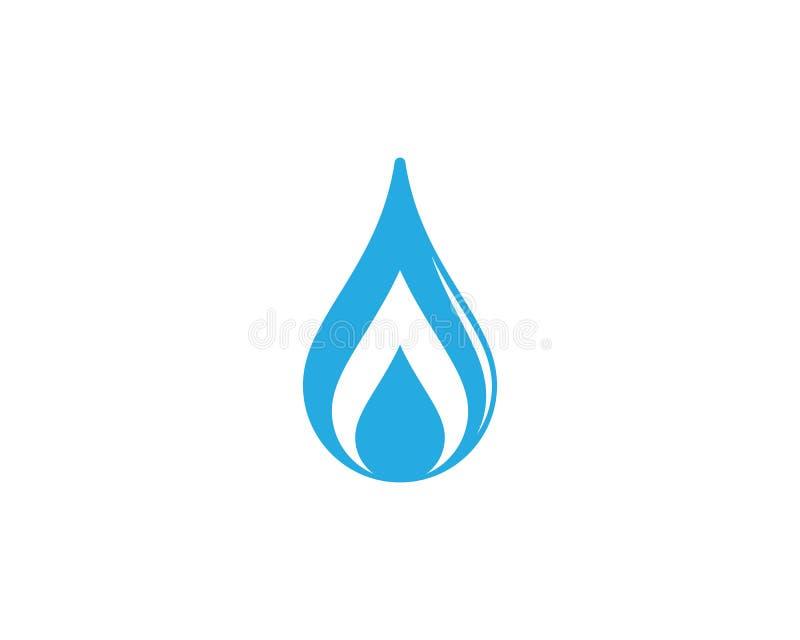 Ic?ne de vecteur de baisse de l'eau illustration libre de droits