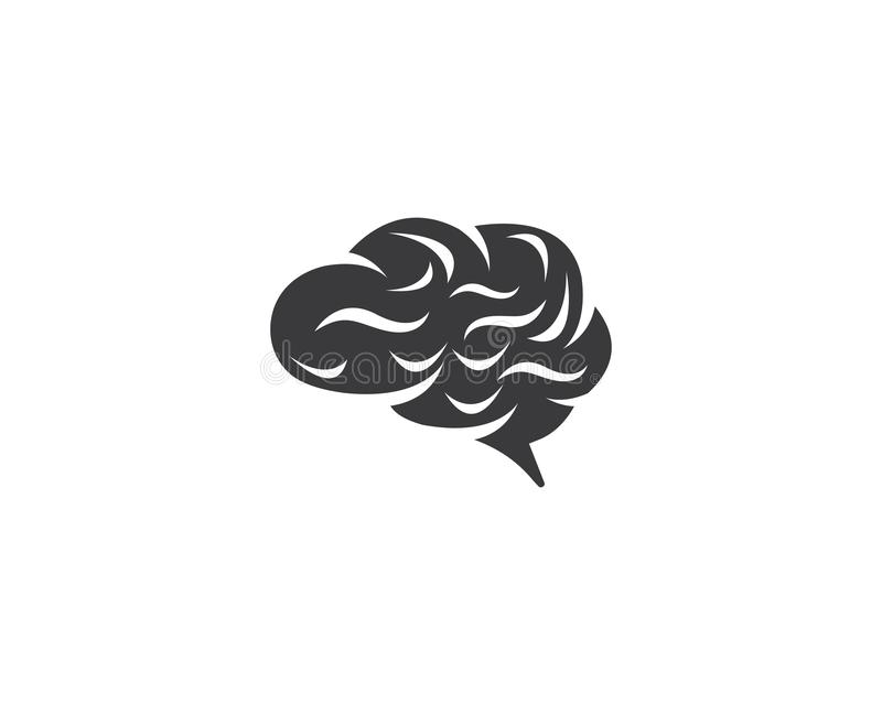 Ic?ne de vecteur de Brain Logo Template illustration stock