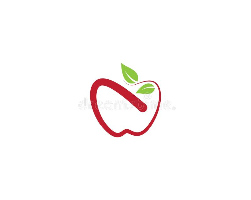 Ic?ne de vecteur de calibre de logo d'Apple illustration libre de droits