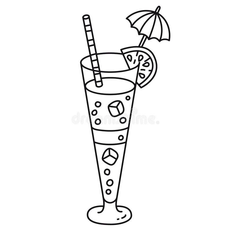 Ic?ne de vecteur de cocktail illustration de vecteur