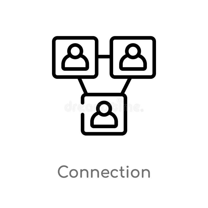 ic?ne de vecteur de connexion d'ensemble ligne simple noire d'isolement illustration d'?l?ment de concept de strat?gie Course Edi illustration de vecteur