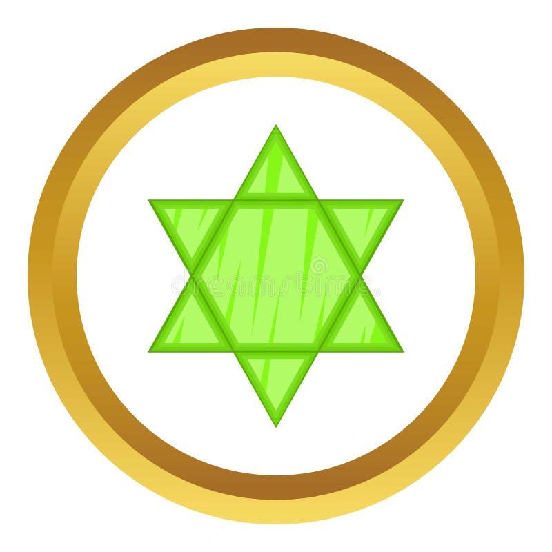 Icône de vecteur d'étoile de David illustration stock