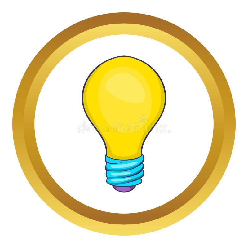 Icône de vecteur d'ampoule illustration stock