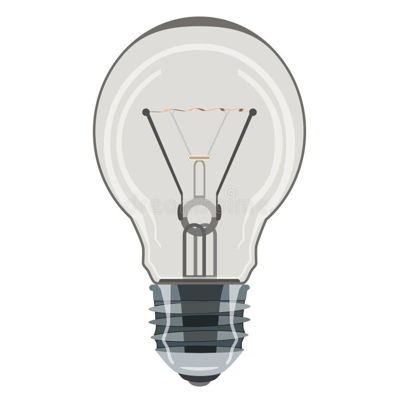 Icône de vecteur d'ampoule dans le style plat illustration stock