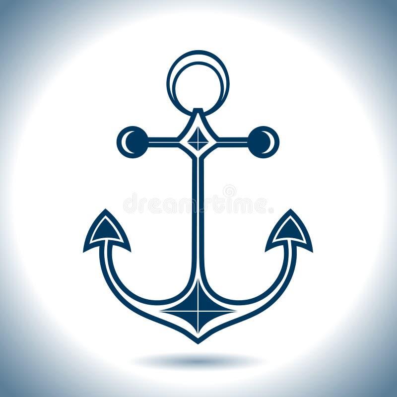 Icône de vecteur d'ancre Thème nautique illustration de vecteur
