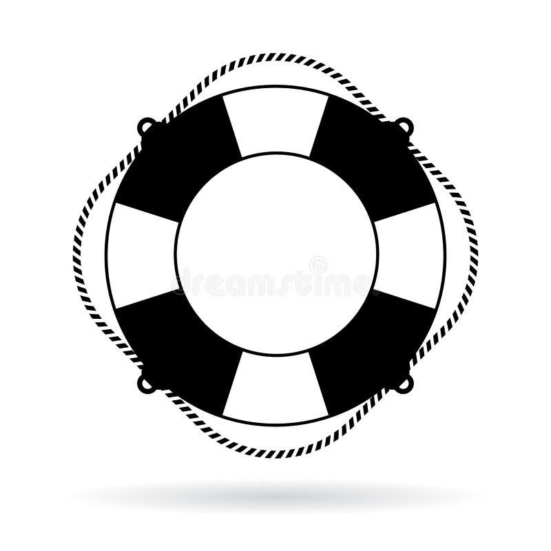 Icône de vecteur d'anneau de conservateur de vie illustration de vecteur