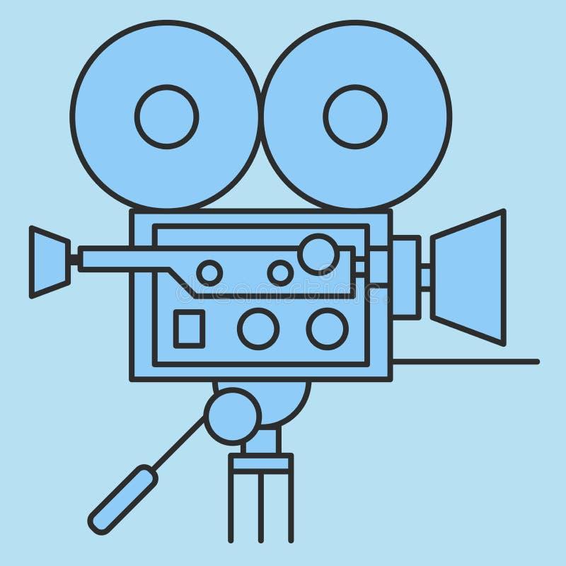 Icône de vecteur d'appareil-photo de film illustration stock