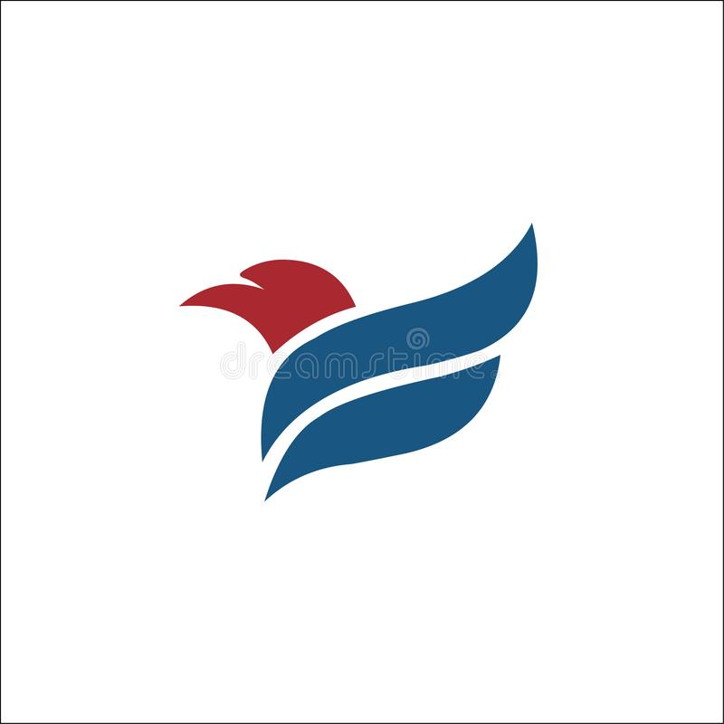 Ic?ne de vecteur d'Eagle Bird Logo Template de faucon illustration libre de droits