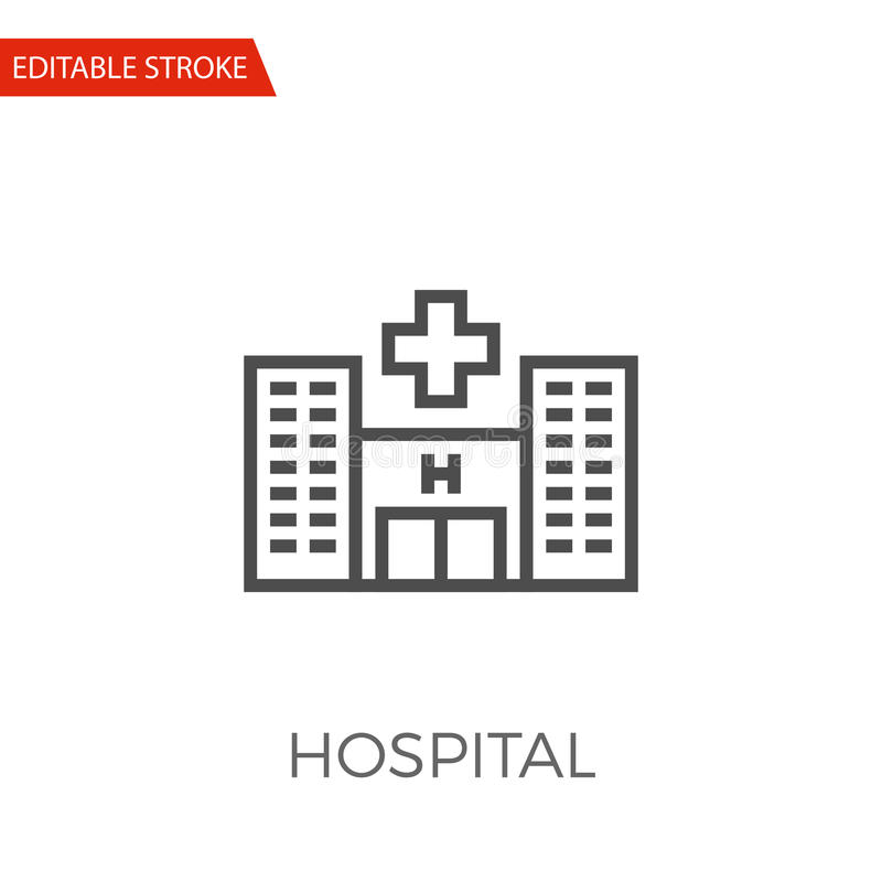 Icône de vecteur d'hôpital illustration de vecteur