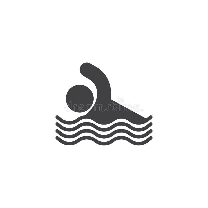 Ic?ne de vecteur d'homme de nageur illustration stock