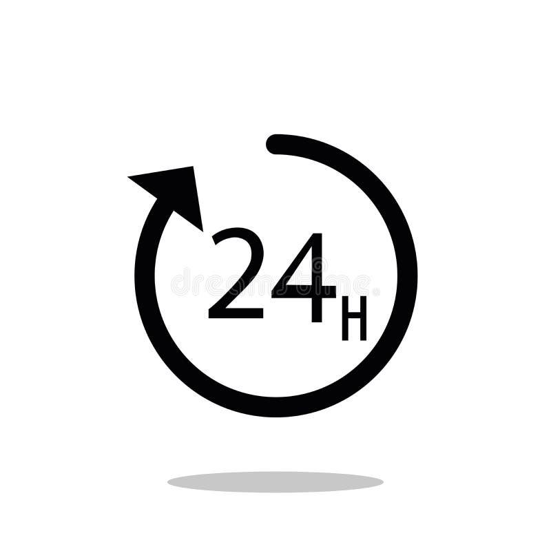 Ic?ne de vecteur d'horloge Illustration de vecteur de temps Style plat ? la mode pour la conception graphique, site Web, UI illustration libre de droits
