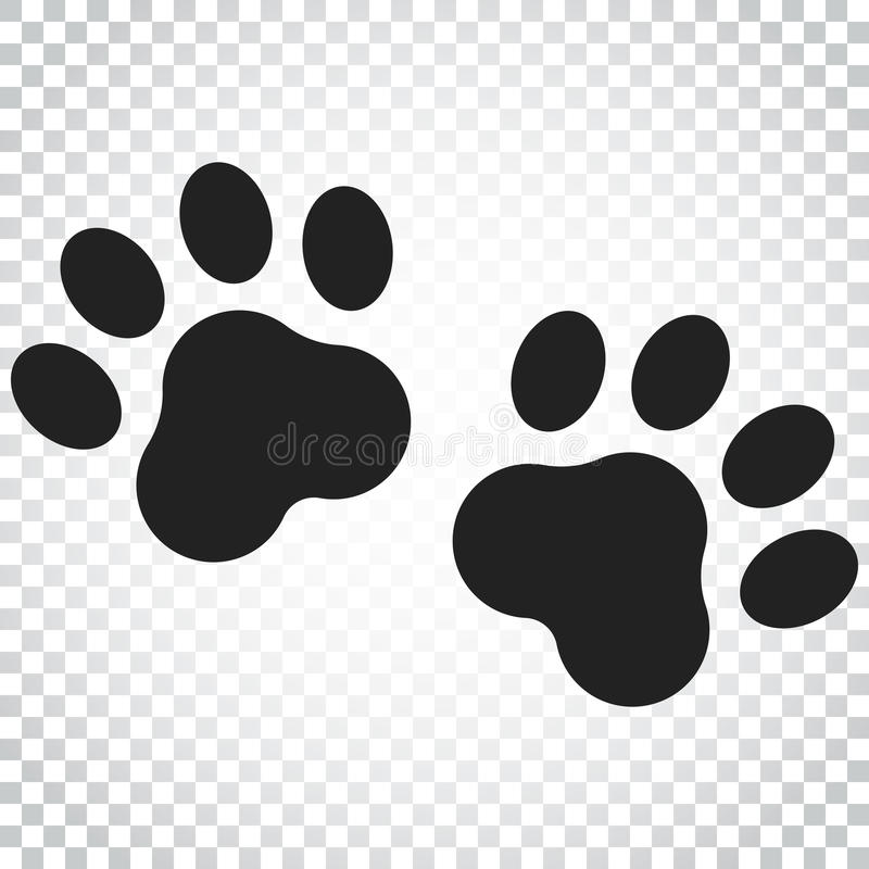 Icône de vecteur d'impression de patte Illustration de pawprint de chien ou de chat Animal illustration de vecteur