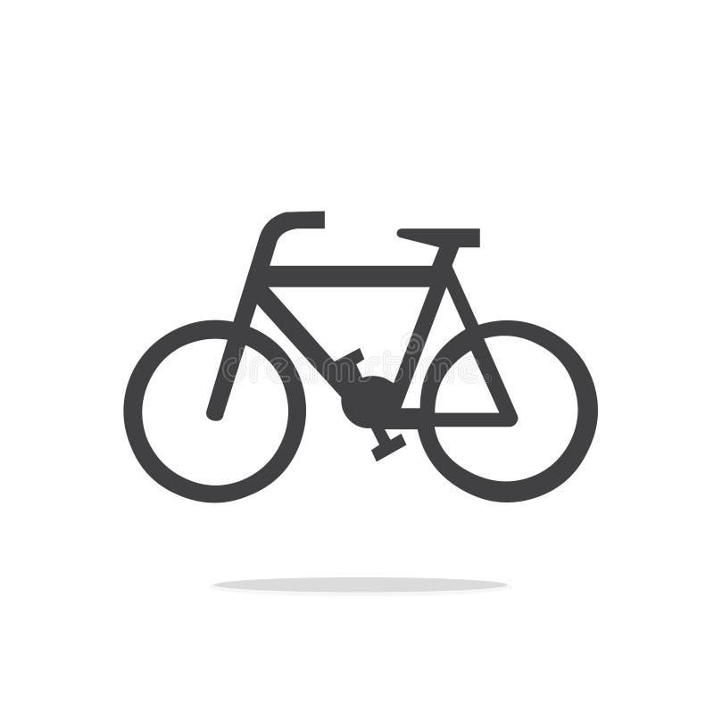 Icône de vecteur de bicyclette image stock