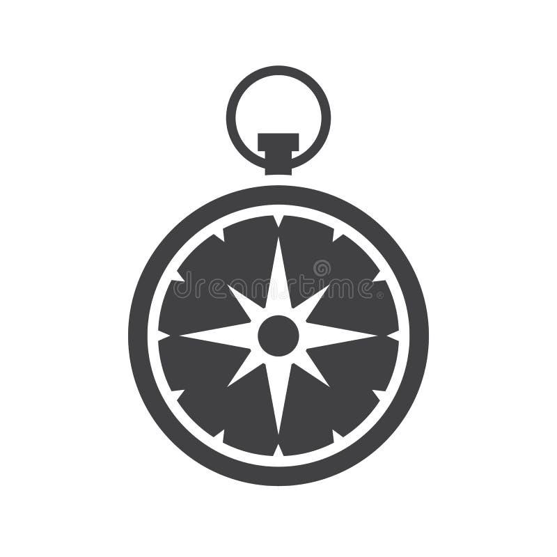 Icône de vecteur de boussole illustration de vecteur