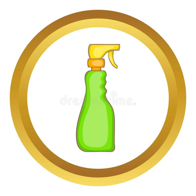 Icône de vecteur de bouteille de jet de ménage illustration stock