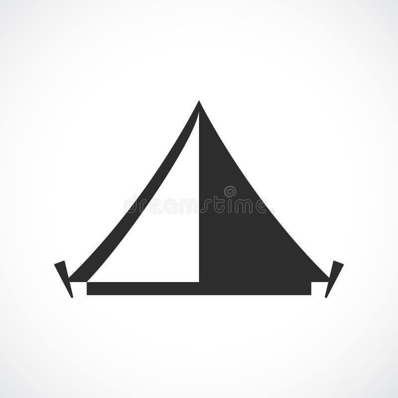 Icône de vecteur de camp de tente illustration de vecteur