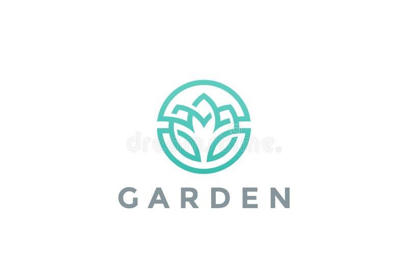 Icône de vecteur de conception d'abrégé sur cercle de logo de fleur illustration de vecteur