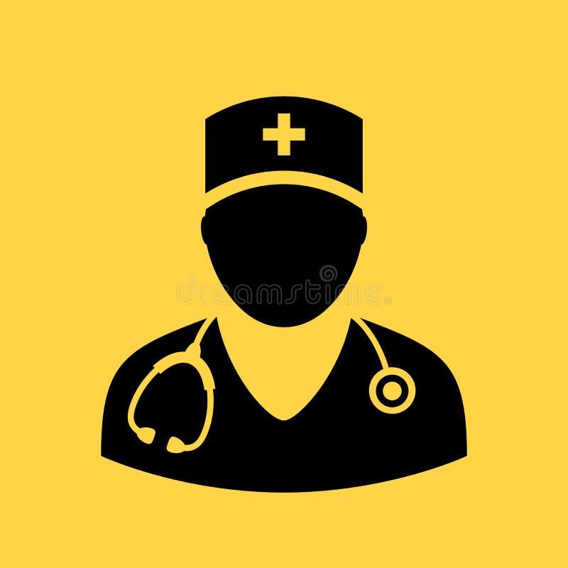 Icône de vecteur de docteur illustration libre de droits