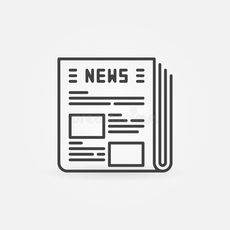 Icône de vecteur de journal illustration libre de droits