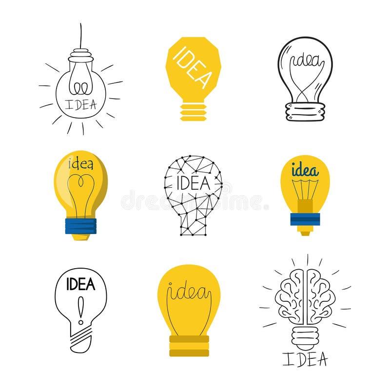 Icône de vecteur de lampe d'idée illustration de vecteur