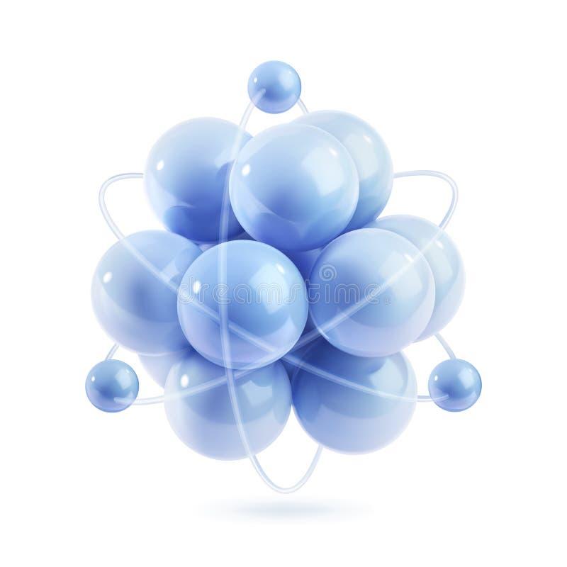 Icône de vecteur de molécule illustration libre de droits