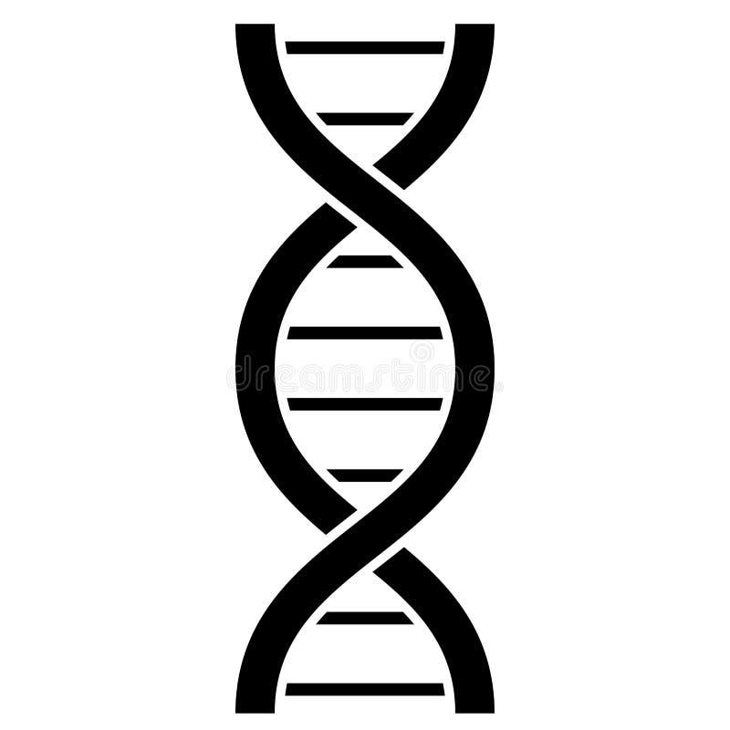 Icône de vecteur de molécule d'ADN illustration stock