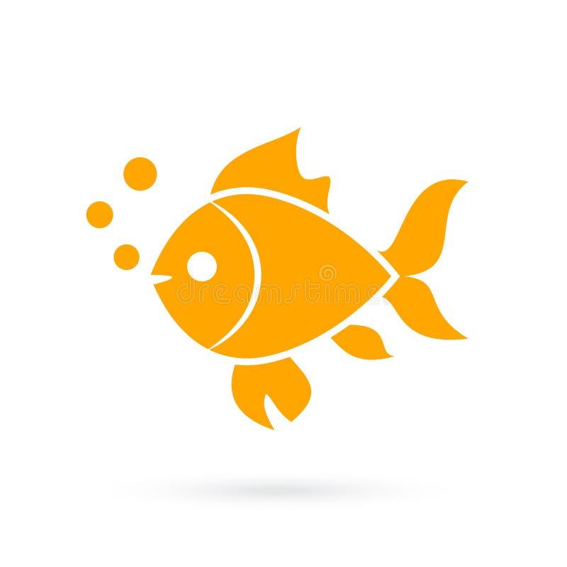 Icône de vecteur de poisson rouge illustration stock