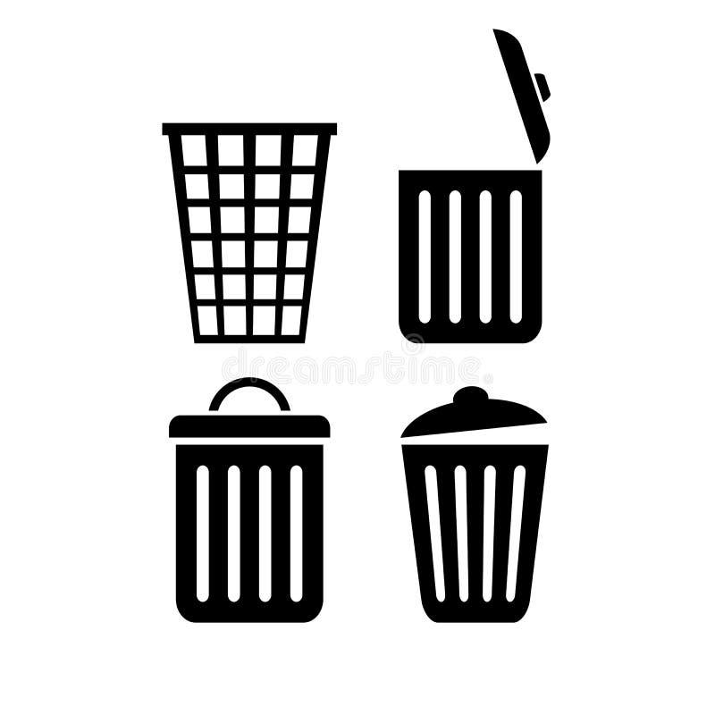 Icône de vecteur de poubelle illustration stock