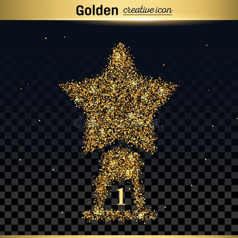 Icône de vecteur de scintillement d'or illustration libre de droits