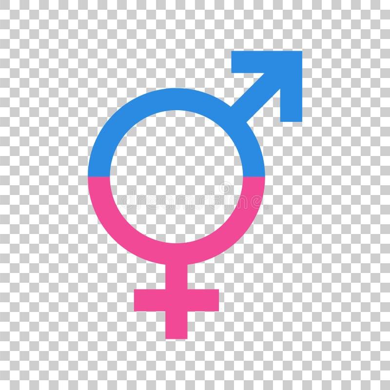 Icône de vecteur de signe d'égalité de genre Hommes et icône égale de concept de woomen illustration stock