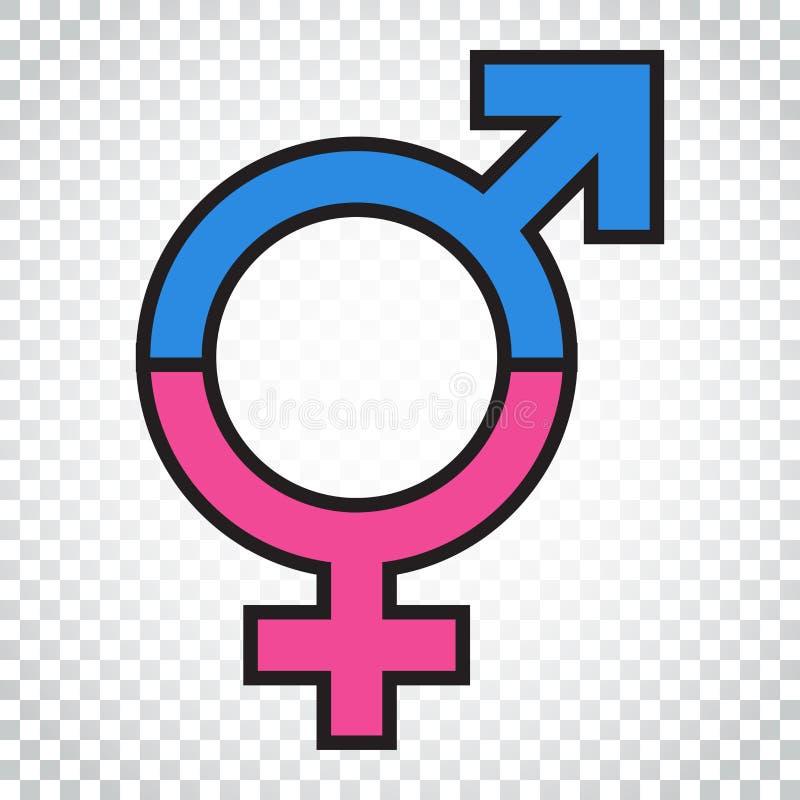 Icône de vecteur de signe d'égalité de genre Icône égale de concept d'hommes et de femmes illustration de vecteur