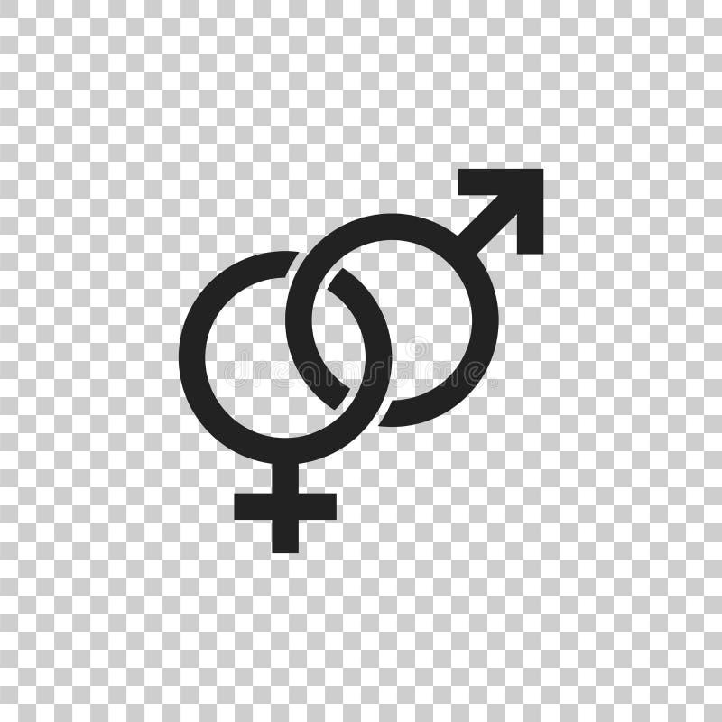 Icône de vecteur de signe de genre Hommes et icône de concept de woomen illustration libre de droits