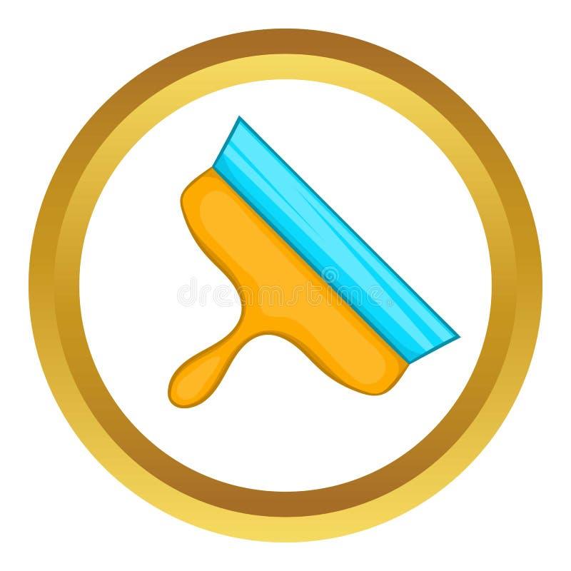 Icône de vecteur de spatule illustration stock