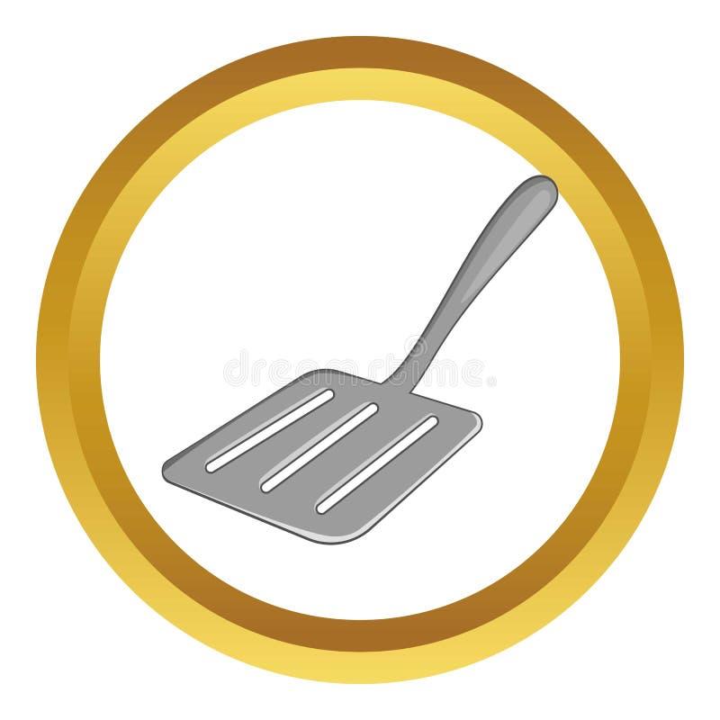 Icône de vecteur de spatule de cuisine illustration stock
