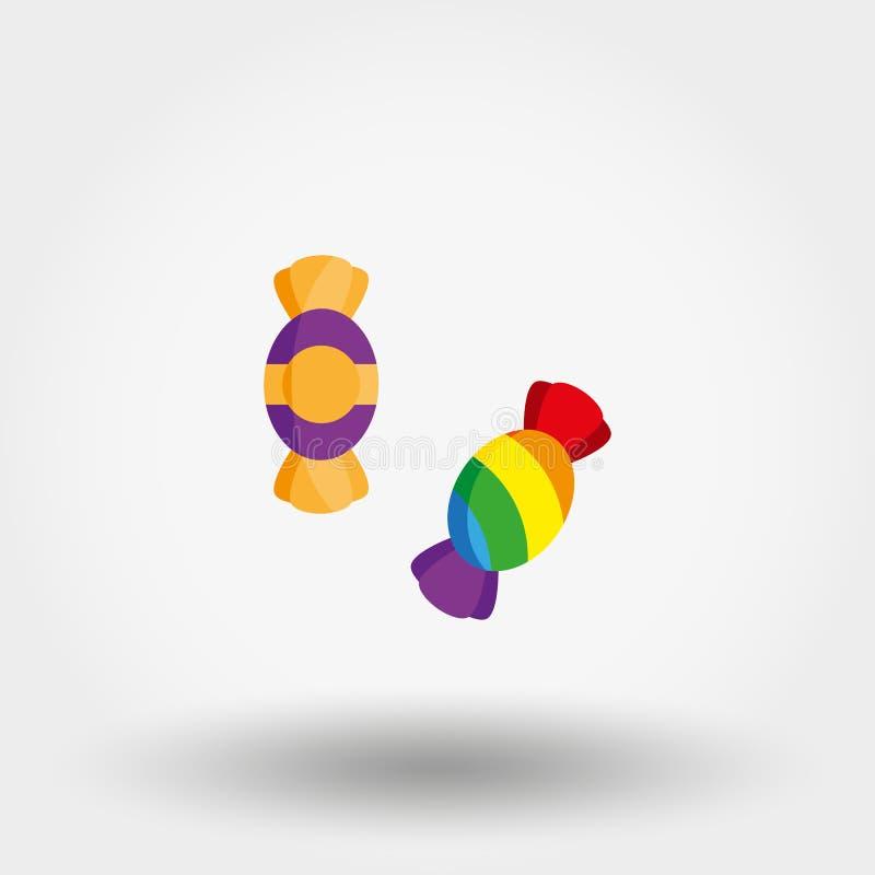 Icône de vecteur de sucrerie illustration stock