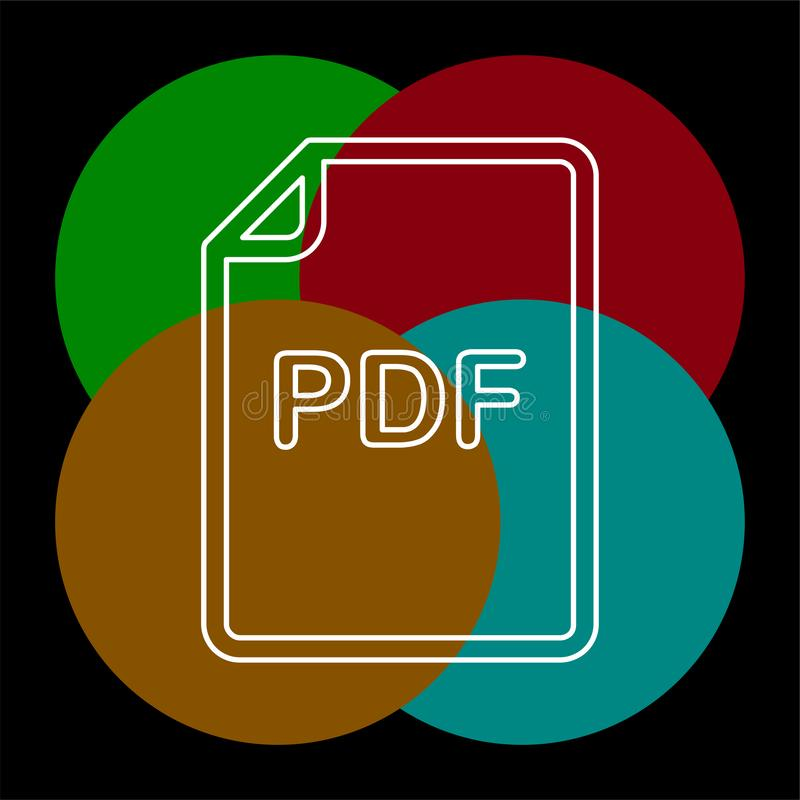 Ic?ne de vecteur de document de pdf illustration de vecteur