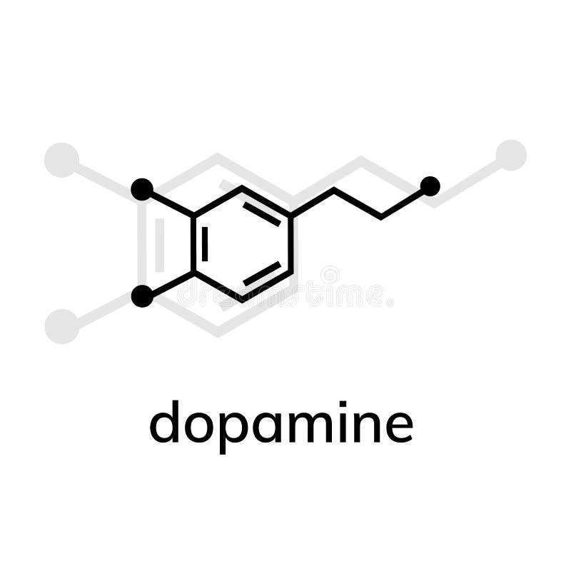 Ic?ne de vecteur de dopamine avec l'ombre illustration libre de droits