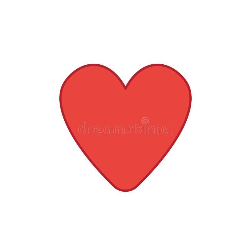 Ic?ne de vecteur de forme de coeur illustration stock