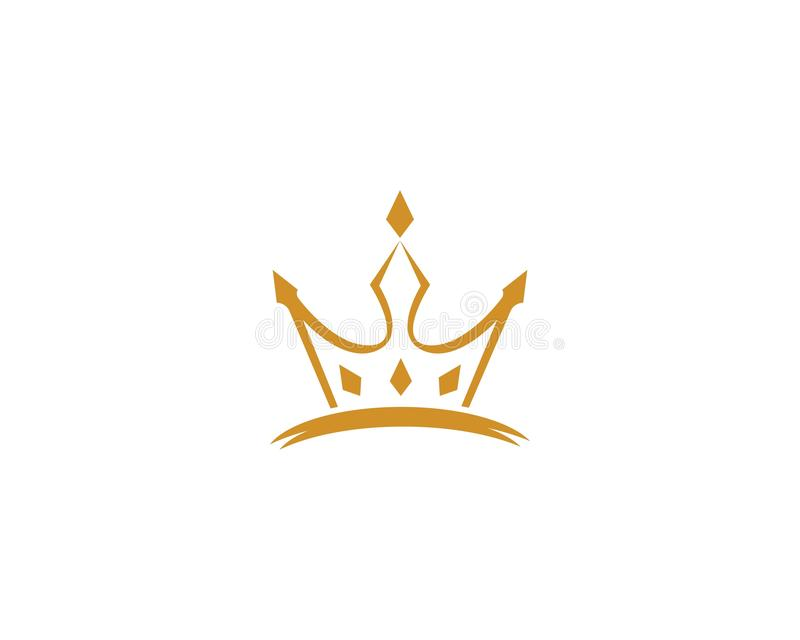 Ic?ne de vecteur de Logo Template de couronne illustration libre de droits