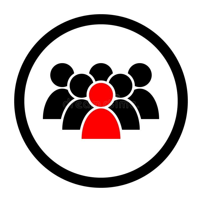 Ic?ne de vecteur de personnes Groupe de personnes l'illustration de symbole logo de groupe d'homme d'affaires Icône de silhouette illustration stock