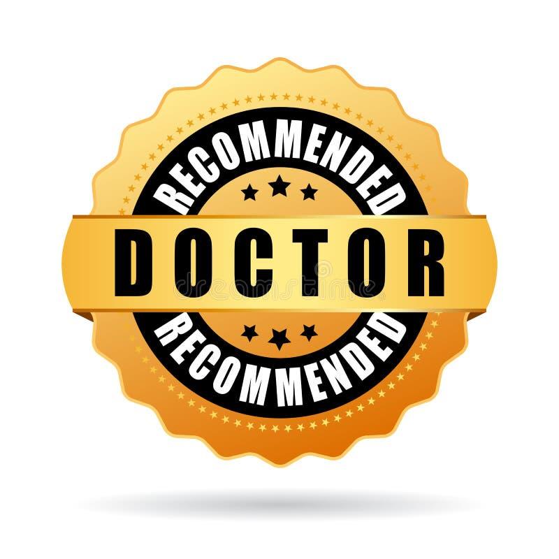 Icône de vecteur recommandée par docteur illustration libre de droits