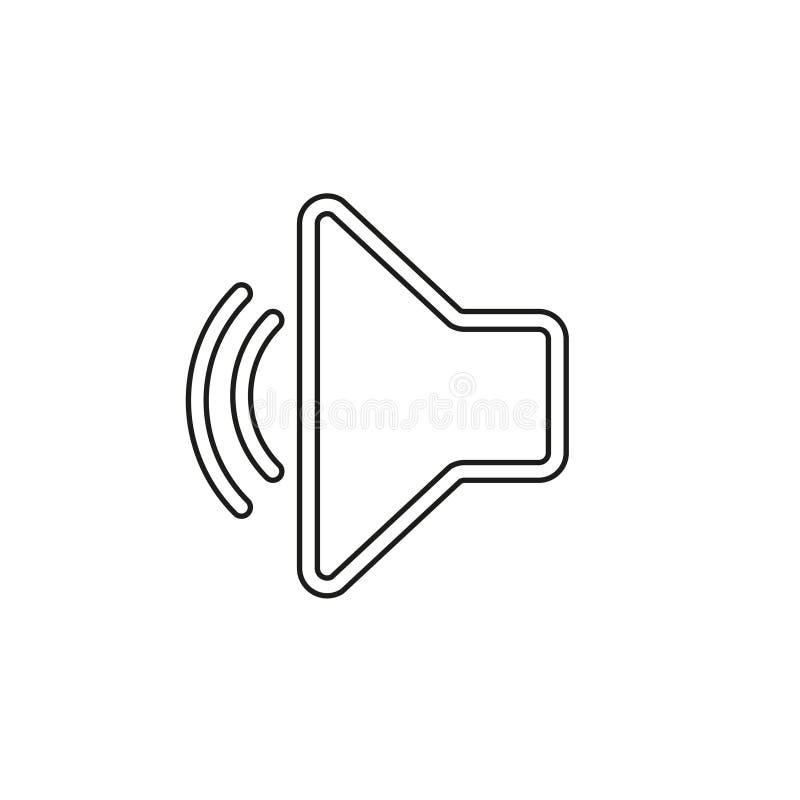 Ic?ne de vecteur de volume de haut-parleur illustration de vecteur