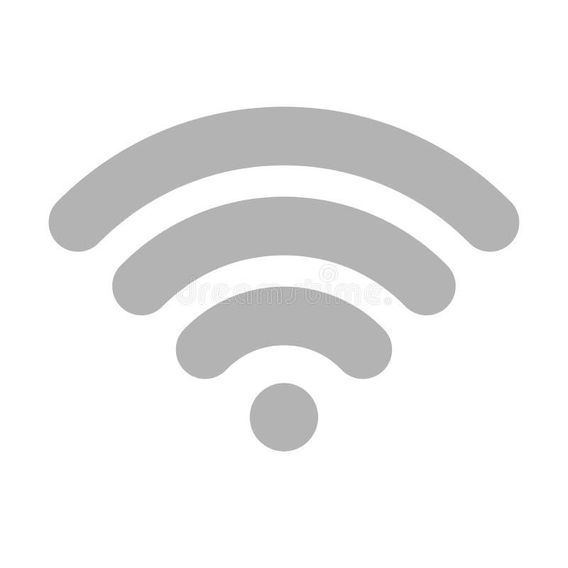 Ic?ne de vecteur de Wi-Fi Illustration plate de vecteur pour la conception web, l'infographics et l'appli mobile illustration stock