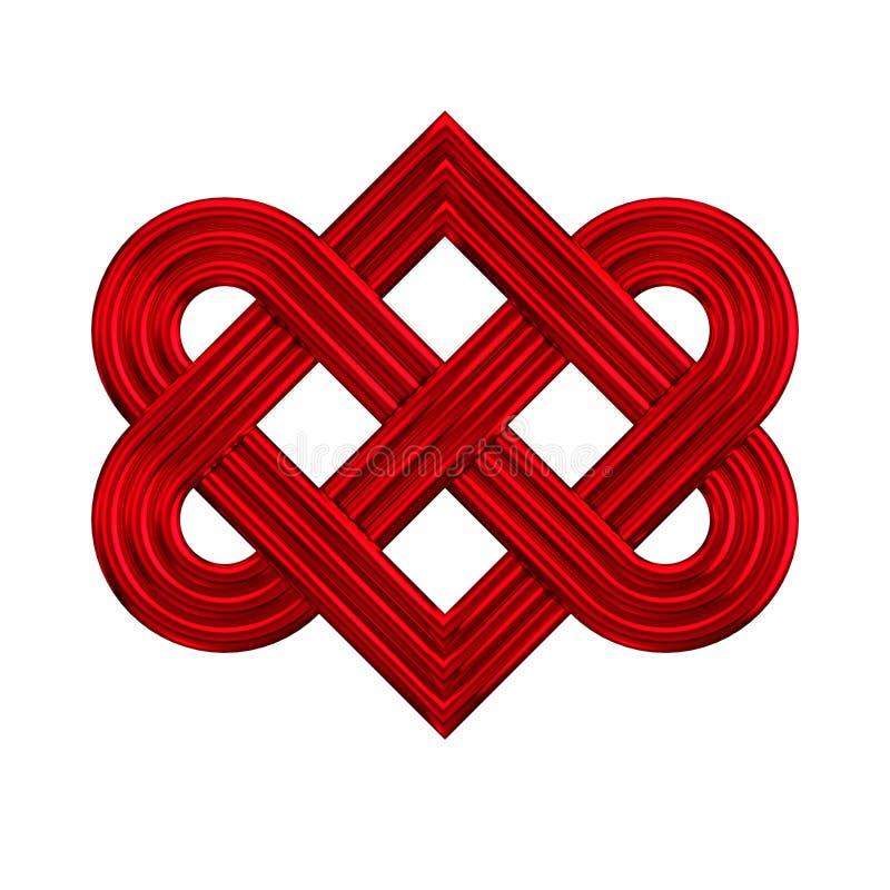 Icône de verrouillage de noeud de coeur illustration de vecteur