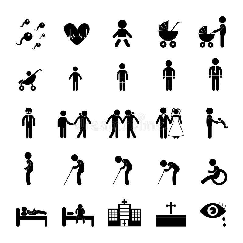 Icône de vie humaine illustration stock