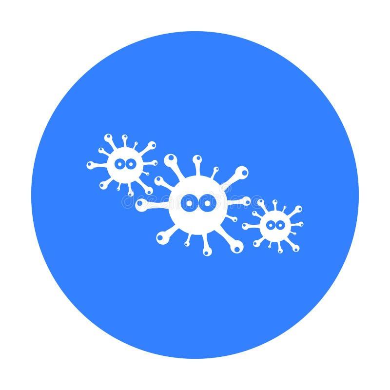 Icône de virus Choisissez l'icône en difficulté de la grande défectuosité, la maladie illustration stock