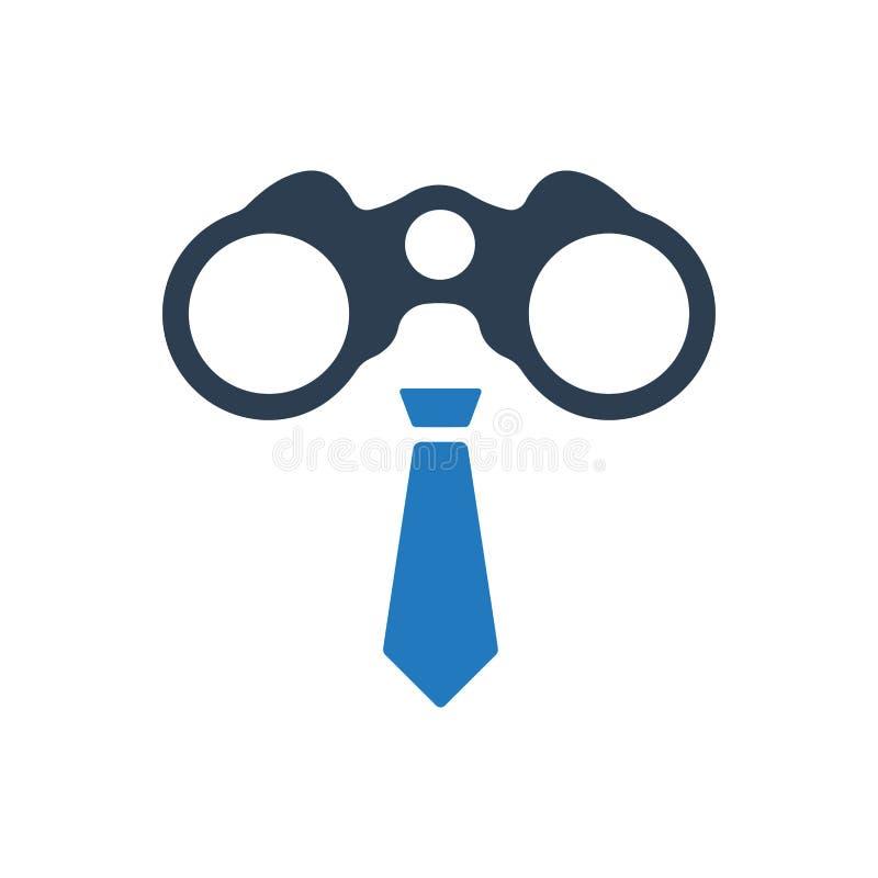 Icône de vision d'affaires illustration stock
