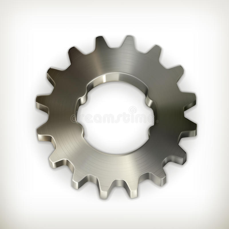 Icône de vitesse en métal illustration de vecteur